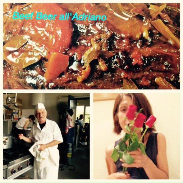 Pasta all'Adriano +  Tourte aux champignons et au Jambon + Pesce spada all' ischitana + Tarta de Lima +Pan de nata +cocktail Parabole+ Farfalles au magret de canard + Squid  Ceviche