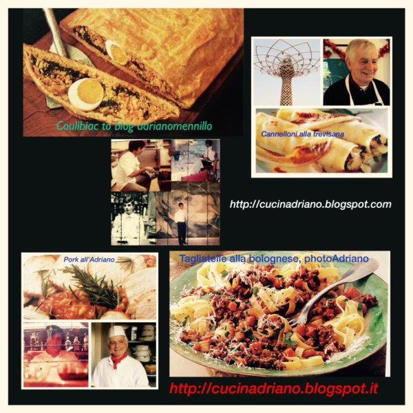 La pàtè à sucre +Capesante con funghi +Pasta rucola & gamberetti +Paccheri al ragù di pesce spada +Bignè salati