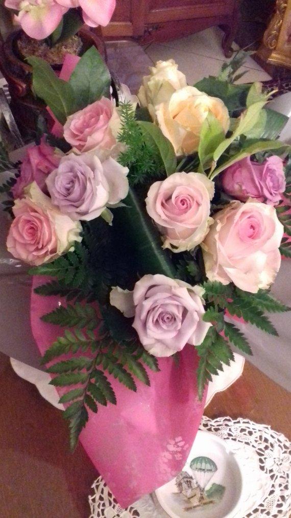 voila le bouquet de roses que m ont offert mes voisins