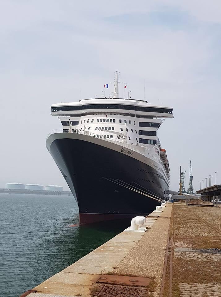 le queen mary2 est arrive au havre