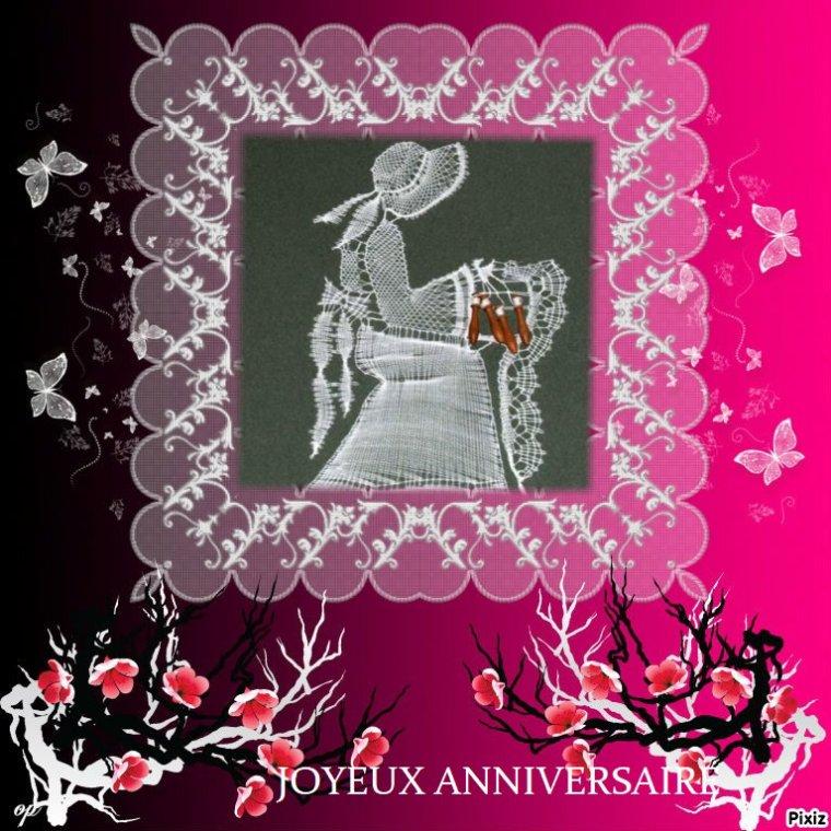Joyeux Anniversaire Mon Amie Annie Dentelle Blog De Eolienne76