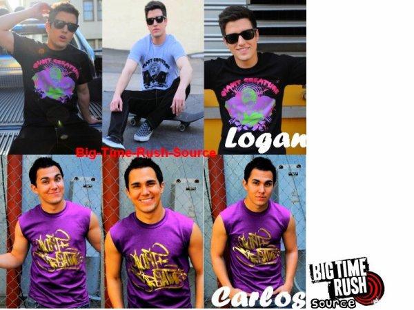 Nouvelles photos pour Logan et Carlos , ils sont posé tout les deux pour la marque Giant Creature .Je ne sais pas vous mais moi j'adore !!
