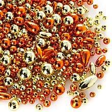 Set de perles, orange/or