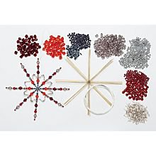 étoiles en fil de fer, rouge/gris/argent