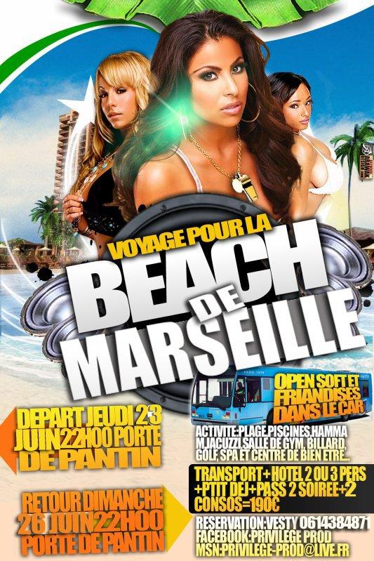 Voyage Weekend Beach de Marseille tout compris du 23 au 26 Juin...