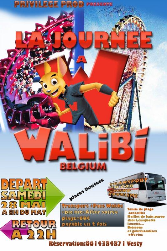 Journée à Walibi+After Walibi (soirée plage)...