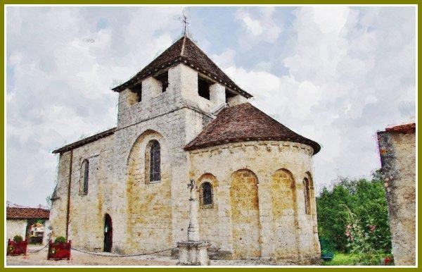 Valeuil ( 24310 ) église Saint-Pantaleon