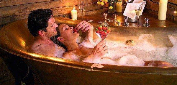 un bain romantique a deux le paradis