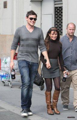 Lea Michele & Cory Monteith Lors Du Tourage De Glee