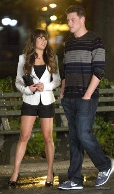 Lea Michele & Cory Monteith Lors Du Tourage De Glee part 2