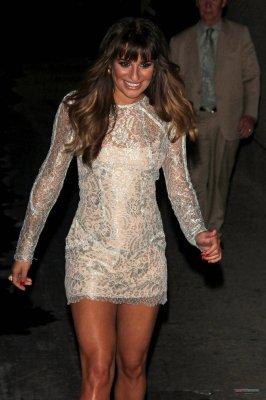 Lea Michele au Jimmy Kimmel