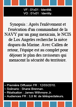 (c) Addict-NCIS-Los-Angeles.  Saison 1 : Épisodes 01, 02, 03 & 04 !