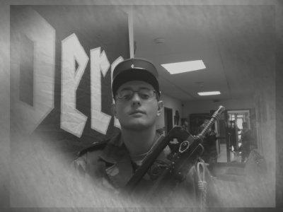une autre photo de mon couzin Manu de l'armée