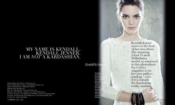 La suite des photos de Kendall pour GENLUX magazine.