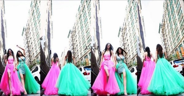 Photoshoot  pour Sherri Hill.
