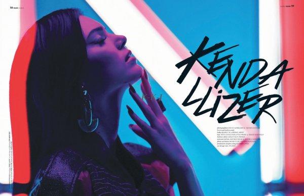 Kendall fait la couverture du magazine BLANK .