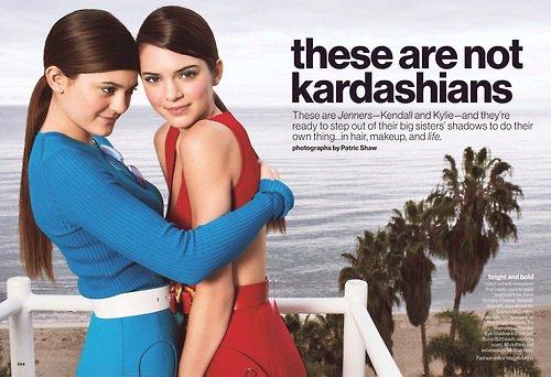 Kendall & Kylie pour le magazine GLAMOUR !