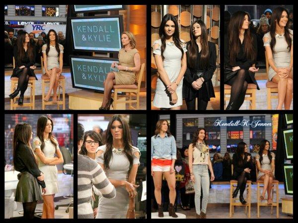 8 février 2013: Kendall et Kylie Jenner sont allées faire un tour à l'émission << Good morning America >> pour parler de leur ligne de vêtement.