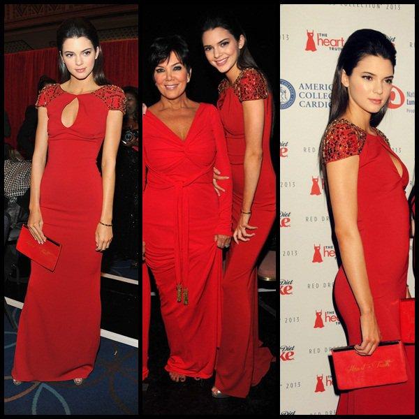 Kendall , Kylie et leur mère Kris au célèbre défilé Heart truth  à New-York le 6 Février.