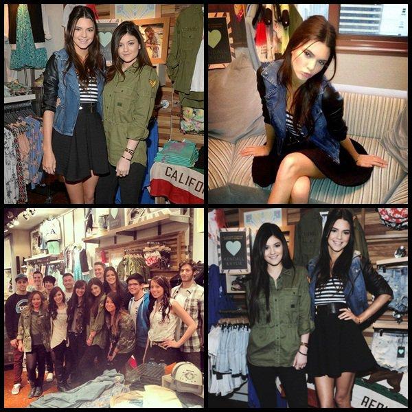 Kendall & Kylie a une séance d'autographe dans le magasin Pacsun le 8 février.