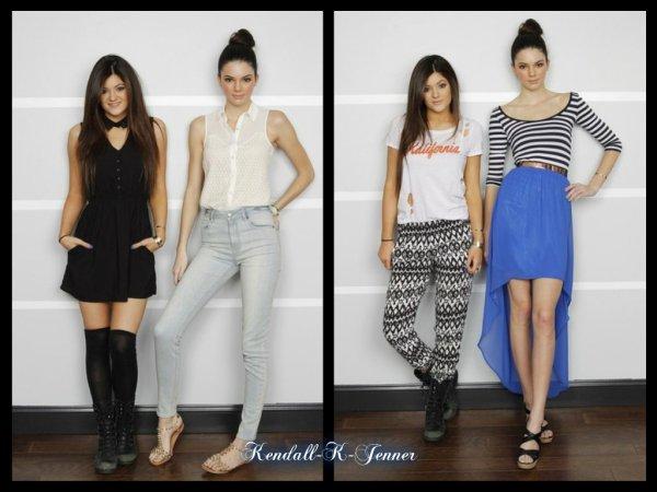 Nouvelles photos de Kendall &Kylie pour leur collection de vetement PACSUN !