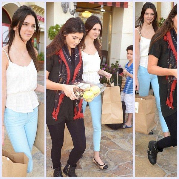 26 mars. Kendall & Kylie faisant quelque achats à  Crumbs Bake Shop à Calabasas  +photo personelle