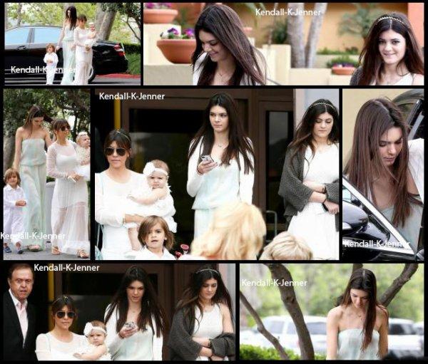 31 mars 2013: Kendall a été aperçue avec sa famille allant  à la messe pour Pâques à Agoura Hills.