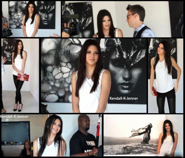 11 avril 2013: Kendall a été aperçue à la gallerie d'art de Guy Hepner à Los Angeles en Californie