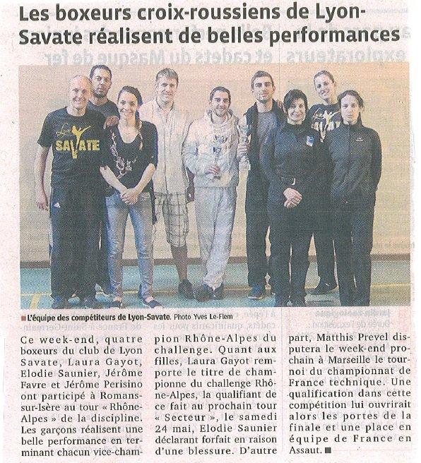 Article sur Challenge Le Progrès - 29/04/14
