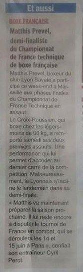 Matthis aux phases finales techniques à Marseille - 03 & 04/05/14