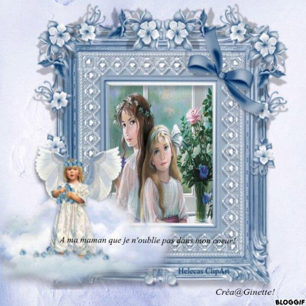 En souvenir de ma petite maman une création du blog Guyenne627 - Merci Ginette