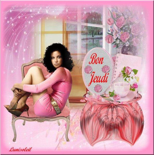 BON JEUDI -  Belle Création de mon amie Brigitte - http://lunisoleil.skyrock.com/