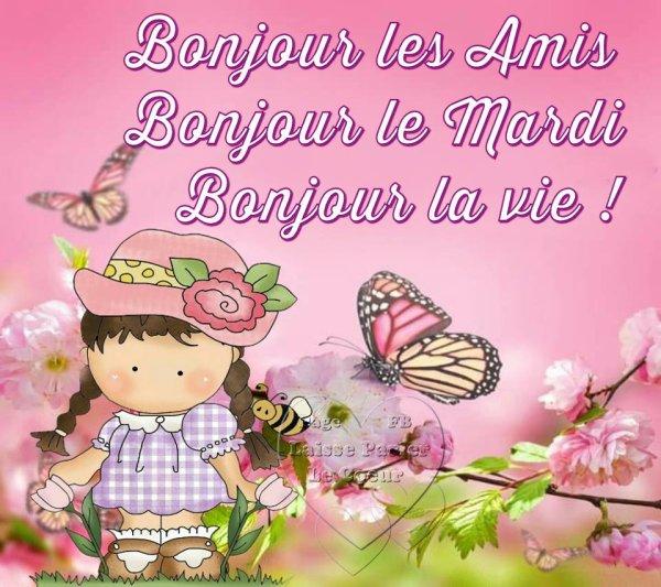 BONJOUR LES AMI(E)S... BONJOUR LE MARDI....