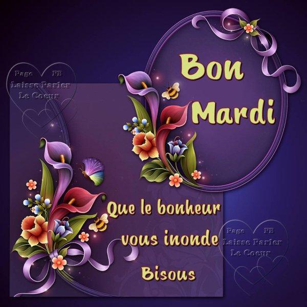 BON MARDI... BELLE JOURNEE...