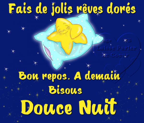 DOUCE NUIT... A DEMAIN, BISOUS...