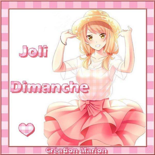 JOLI DIMANCHE... Prenez si vous aimez...