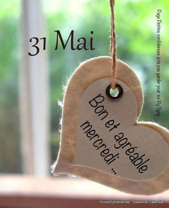 BON ET AGREABLE MERCREDI 31 MAI...