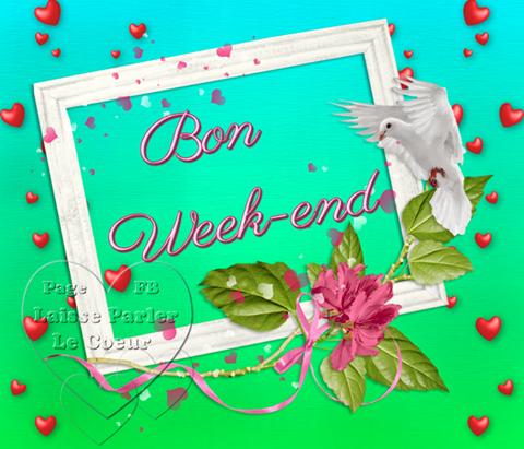 BONJOUR... BELLE JOURNEE... BON WEEK END...