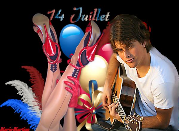 KDOS POUR LE 14 JUILLET... Reçus de mon amie DANIELLE ♥