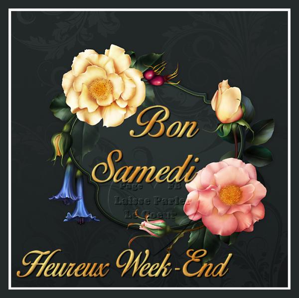 BON SAMEDI... HEUREUX WEEK-END...