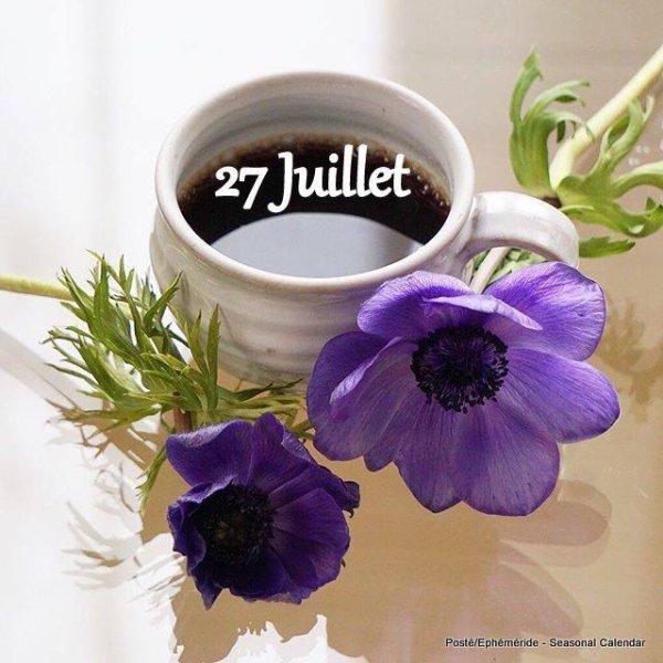 JEUDI 27 JUILLET...