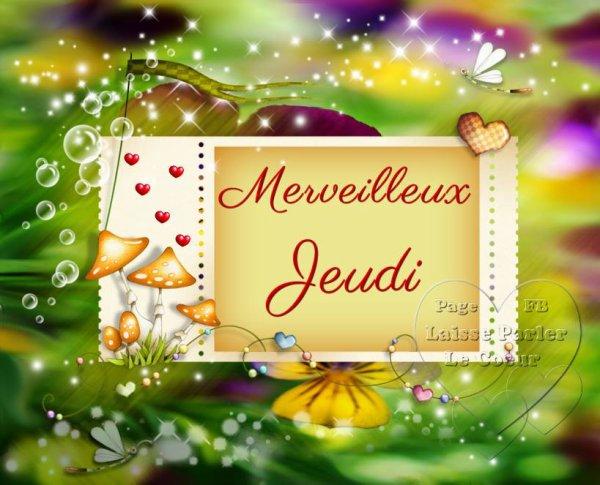 MERVEILLEUX JEUDI...