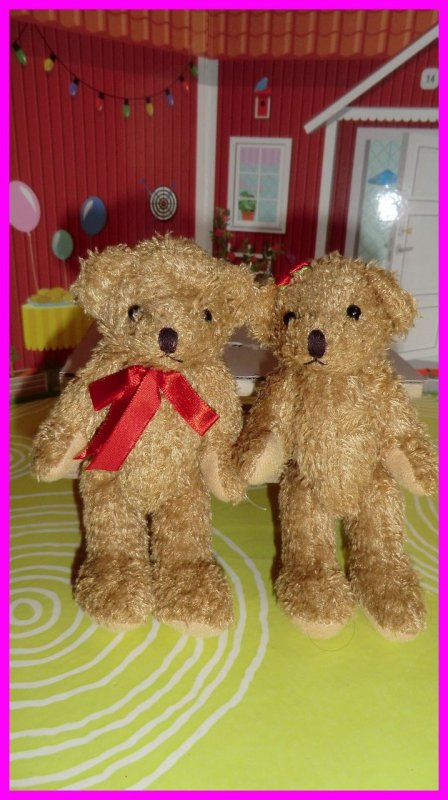PETITS OURSONS DE MA COLLECTION - Dont deux couples St Valentin, leur museau est aimanté