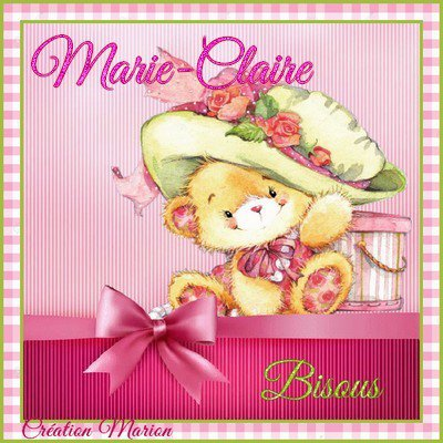 JOYEUX ANNIVERSAIRE MARIE-CLAIRE !!