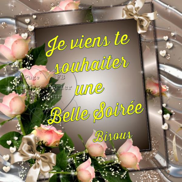 BONNE SOIRÉE...