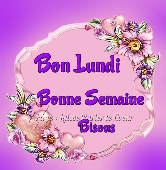 BON LUNDI..