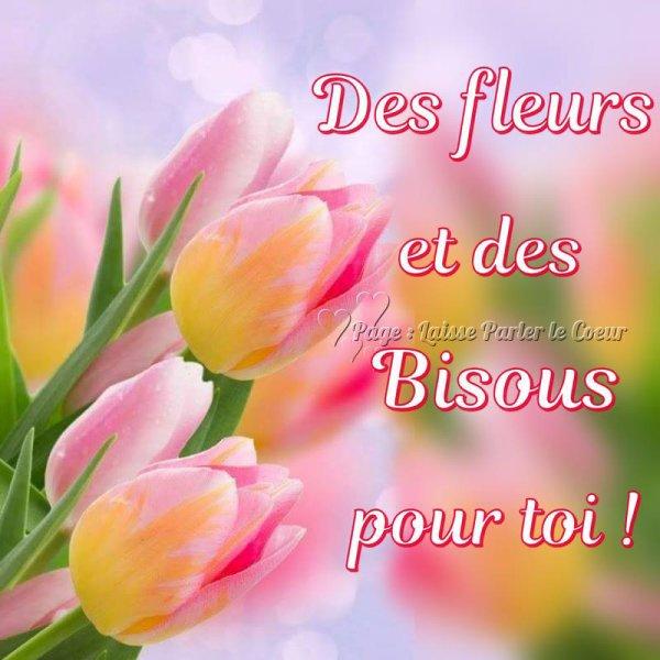 """Résultat de recherche d'images pour """"bisous fleurs"""""""