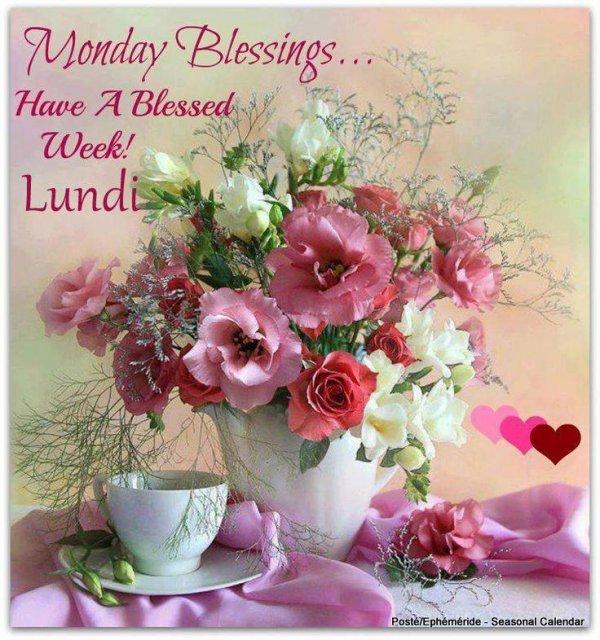 Bon Lundi Bonne Journee Bonne Semaine Les Creations De