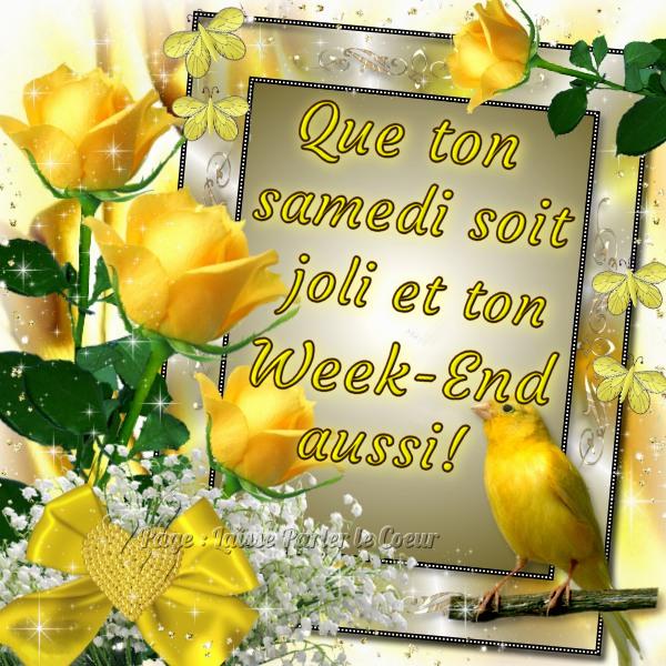 BON SAMEDI... BONNE JOURNEE - Les Créations de Marion suite