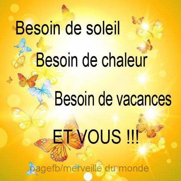 BESOIN DE SOLEIL !